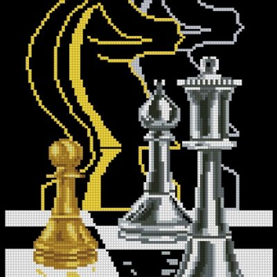 Схема вышивки шахматы